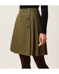 Hobbs Green Kerys Wool Skirt