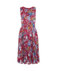 Hobbs Red Meera Dress