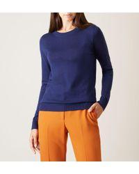 Hobbs - Blue Navy 'penny' Sweater - Lyst