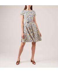 Hobbs White Sorrento Linen Dress
