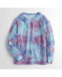 90b1ed278 Lyst - Hollister Girls Oversized Crewneck Sweatshirt From Hollister ...