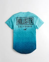 Hollister - Blue Guys Logo Graphic Tee From Hollister for Men - Lyst