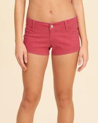 Hollister | Pink Low-rise Sateen Short-shorts | Lyst