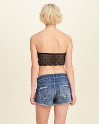 Hollister - Black Gilly Hicks Removable-pads Lined Lace Bandeau - Lyst
