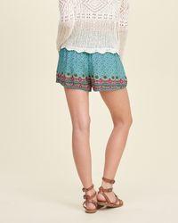 Hollister - Blue Drapey Shorts - Lyst