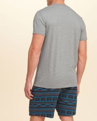 Hollister - Gray Applique Logo Graphic Tee for Men - Lyst