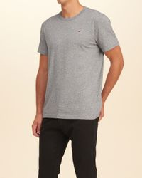 Hollister Gray Must-have Crew T-shirt for men