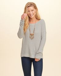 Hollister Gray Iconic Pullover Sweater