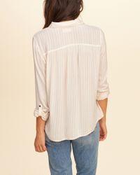 Hollister - Multicolor Pintuck Button Front Shirt - Lyst