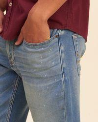 Hollister - Blue Skinny Jeans for Men - Lyst