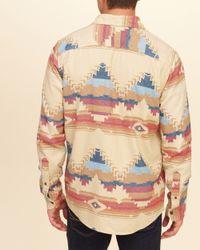 Hollister Multicolor Patterned Flannel Shirt for men