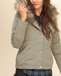 Hollister Multicolor Down Anorak Jacket