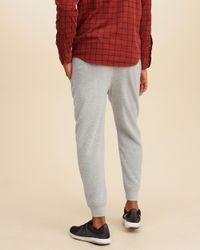 Hollister Gray Super Soft Joggers for men