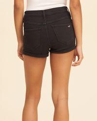Hollister - Black High-rise Denim Short-shorts - Lyst