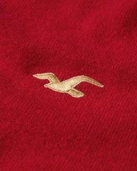 Hollister Red Wool-cashmere Crew Sweater for men