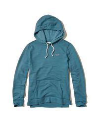 Hollister Blue Boucle Icon Hoodie for men