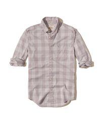 Hollister   Purple Patterned Stretch Poplin Shirt for Men   Lyst