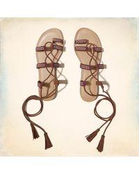 Madden Girl - Natural Saz Lace-up Sandal - Lyst