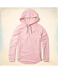 Hollister - Pink Must-have Hooded T-shirt - Lyst