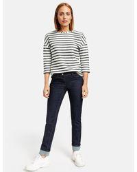 Taifun Blue Jeans mit Saumaufschlag Skinny TS