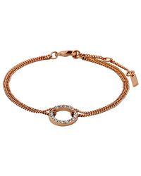 Pilgrim - Metallic Rose Gold Beautiful & Simple Bracelet - Lyst