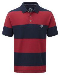 Tog 24 - Red Bennett Stripe Mens Polo Shirt for Men - Lyst
