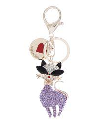 Love Moschino - Purple Keycharm Cat Keyring - Lyst
