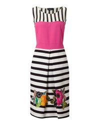 James Lakeland - White Stripe Floral Dress - Lyst