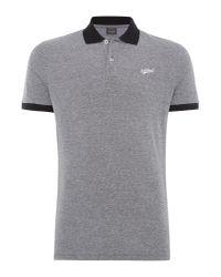 Jack & Jones - Black Men's Mills Contrast Polo Shirt for Men - Lyst