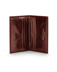 Aspinal Brown Double Fold Credit Card Case