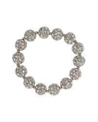 Mikey | White Crystal Heavy Bracelet | Lyst