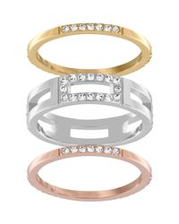 Swarovski - Multicolor Cubist Ring Set - Lyst