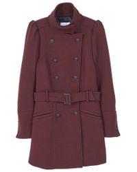 Mango | Red Puffed Wool Coat | Lyst