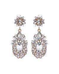 Mikey | White Flower Drop Fillagary Flower Earring | Lyst