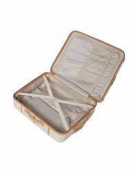 Dickins & Jones Multicolor Vintage Trunk Cream 8 Wheel Medium Suitcase