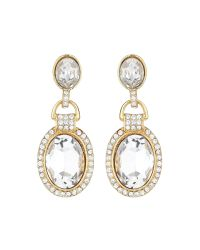 Mikey | Metallic Oval Marquise Crystal Stone Earring | Lyst