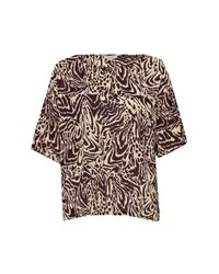 Great Plains - Brown Simba Print Slouchy Top - Lyst