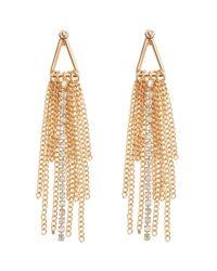 Coast - Metallic Tassel Statement Earrings - Lyst