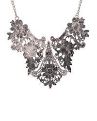 Ruby Rocks | Metallic Detail Necklace In Silver | Lyst
