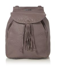 Just Cavalli | Gray Bubble Calf Grey Backpack | Lyst