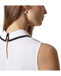 Hobbs - Metallic Erin Pearl Earring - Lyst