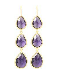 LÁTELITA London | Purple Drop Earring Gold Amethyst | Lyst