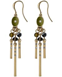 Pilgrim | Metallic Green And Gold Colour Earrings | Lyst