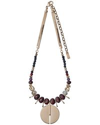 Pilgrim | Metallic Brown And Rose Gold Colour Necklace | Lyst