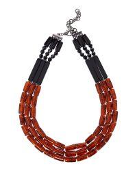 Marella - Brown Ecru Tortoise Shell Necklace - Lyst