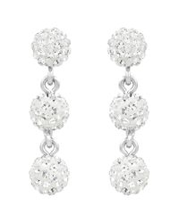lolaandgrace - White Rio Trio Earrings - Lyst