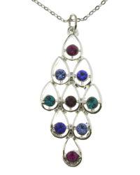 Indulgence Jewellery | Metallic Indulgence Multi Colour Crystal Pendant | Lyst