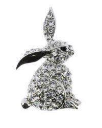 Indulgence Jewellery - Multicolor Indulgence Crystal Rabbit Brooch - Lyst
