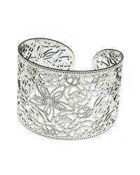 Indulgence Jewellery | White Indulgence Silver Plated Filligree Cuff | Lyst