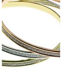 Indulgence Jewellery - Metallic Indulgence Triple 3-tone Bangle Set - Lyst